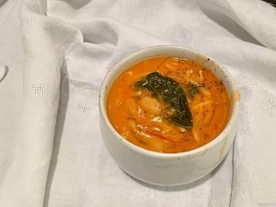 Soupe de haricots blancs à la tomate