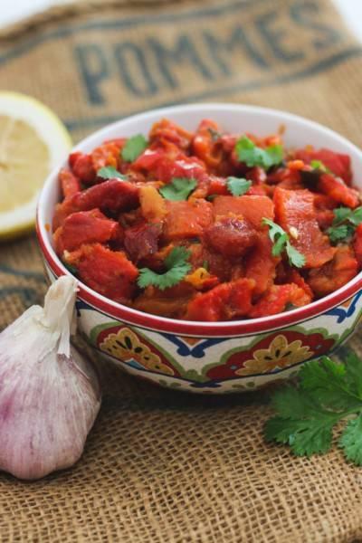Salade de poivrons rouges à la marocaine