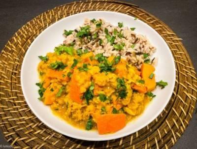 Curry de lentilles au potimarron
