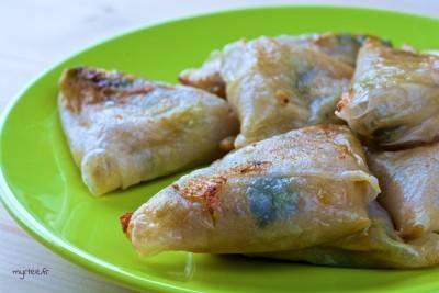 Samoussas sans gluten, au vromage et aux poireaux