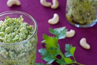 Pesto de brocoli à la noix de cajou