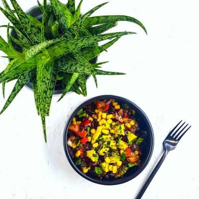 Salade tex-mex au quinoa rouge et avocat