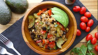 Riz à la mexicaine végétalien
