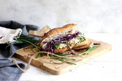 Sandwich thon-mayonnaise végan