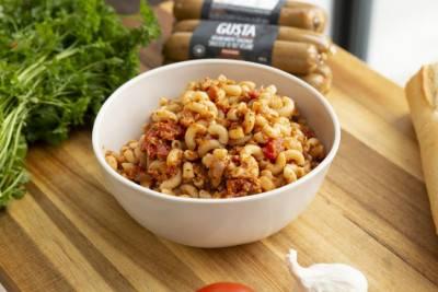 Macaroni à la faucisse hachée façon bolognaise