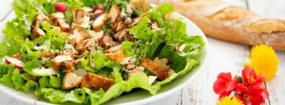 Salade César et son crousti-tofu