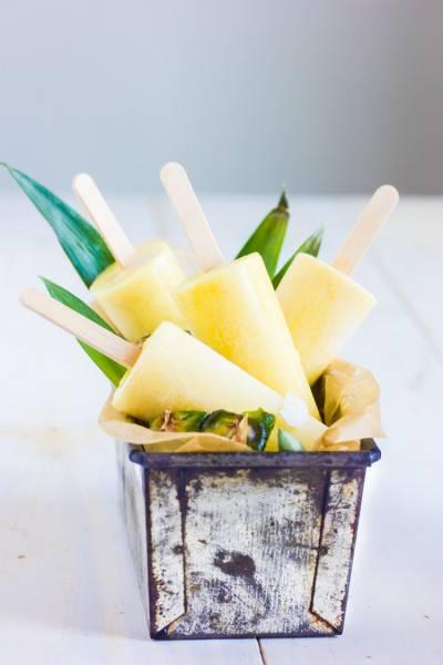 Popsicle ananas et lait de coco