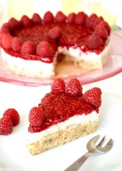 Cheesecake à la framboise