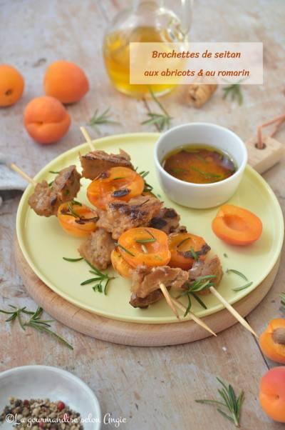 Brochette de seitan abricot romarin