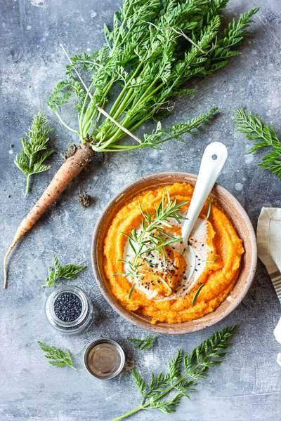 Purée de carottes au lait de coco
