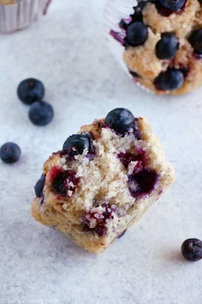 Muffins végans aux myrtilles