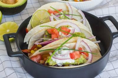Tacos végans au guacamole