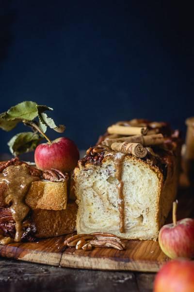 Brioche pomme cannelle noix de pécan