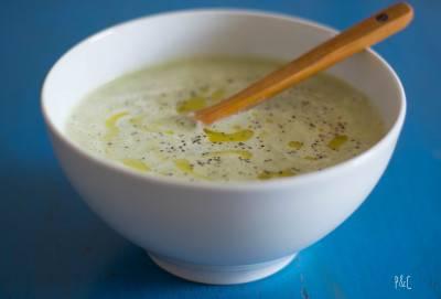 Soupe de courgettes crémeuse