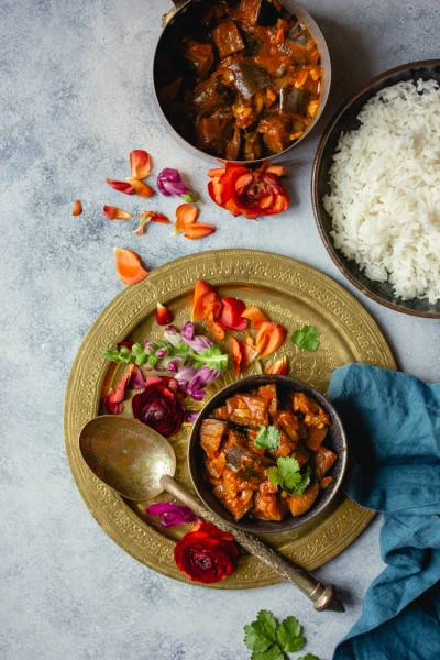 Curry d'aubergine de Délia