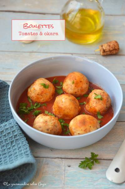 Boulettes okara tomates
