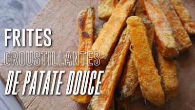 Frites croustillantes de patates douces
