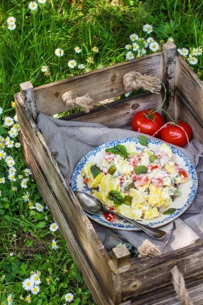 Salade piémontaise et sa véganaise maison