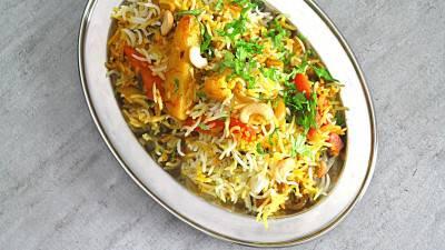Riz biryani aux légumes de Pankaj